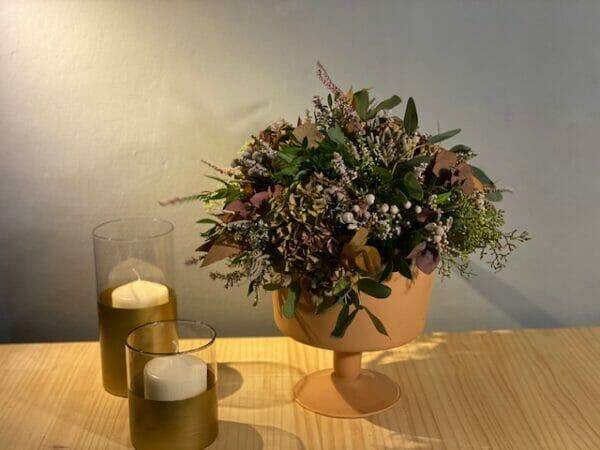 arreglo flor seca copa